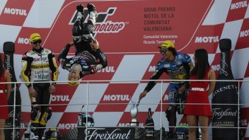 THE PHOTO. Zarco's backflip on the podium