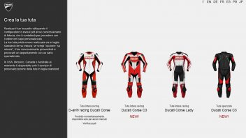Ducati: Ducatisumisura.com, two new models