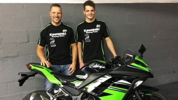 Jared Schultz in Supersport 300 con Kawasaki