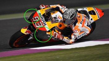 MotoGP: In Qatar Honda svela le sue nuove ali 'coperte'