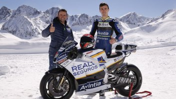 MotoGP: Barbera and Baz christen the Ducati in the snow