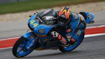 Moto3: Canet si prende anche il warm up, 3° Migno