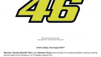 MotoGP: Yamaha confirms Valentino's accidente