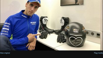 MotoGP: Black helmet for Rins as a tribute to the Barcelona victims