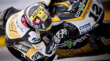 Moto2: Luthi fa il vuoto sul bagnato, 6° Morbidelli