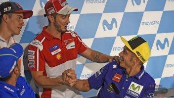 MotoGP: Dovizioso: Rossi? Fino a che sarà veloce non si fermerà