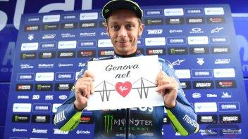 MotoGP: Valentino rende omaggio alla vittime di Genova
