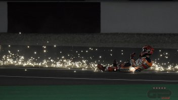 MotoGP: Stardust: the crash of Marc Marquez in the Qatar test