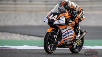 Moto3: FP3, il vento del Qatar non disturba Aron Canet, ancora 1°