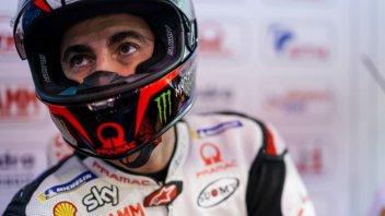 """MotoGP: Bagnaia: """"Petrucci mi ha toccato e fatto perdere l'ala"""""""