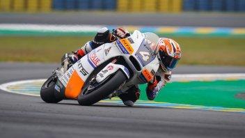 Moto2: Odendaal la spunta sul bagnato delle FP3 a Le Mans