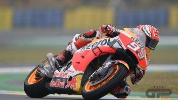 MotoGP: Lotteria Le Mans: Marquez in pole con caduta, 5° Rossi