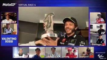 MotoGP: VirtualGP Misano - Podio per Rossi dietro ai fratelli Marquez