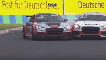 Chaz Davies crash nell' Audi TT Cup all'Hungaroring