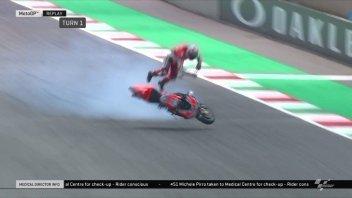 MotoGP: Caduta shock a 350 Km/h per Pirro: non è grave