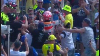 MotoGP: Marc Marquez at the Sachsenring celebrates among Rossi's fans!