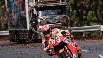 """MotoGP: Marc Marquez e il """"suo"""" Tokyo Drift: con la MotoGP sull'Hakone Turnpike"""