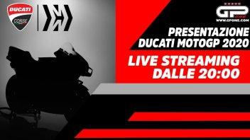 MotoGP: Ducati MotoGP 2020: video in LIVE streaming della presentazione