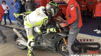 SBK: Bautista e la Honda a terra! Inizio con caduta ai test di Jerez