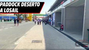 MotoGP: GP of Qatar, paddock deserted at Losail as coronavirus leaves its mark