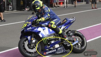 """MotoGP: FOTO. In Qatar a Valentino si abbassa... la """"gonna"""""""