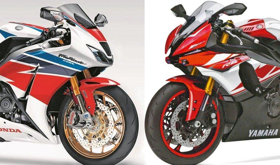 Honda vara la nuova CBR1000RR e Yamaha risponde con la YZF-R6. Ducati rispolvera l'iconaSS, mentre Suzuki e BMW...