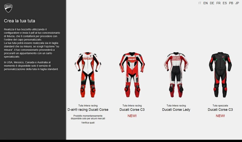 In collaboration with Dainese andAldo Drudi, two new Borgo Panigale leather suits that can be fully customised