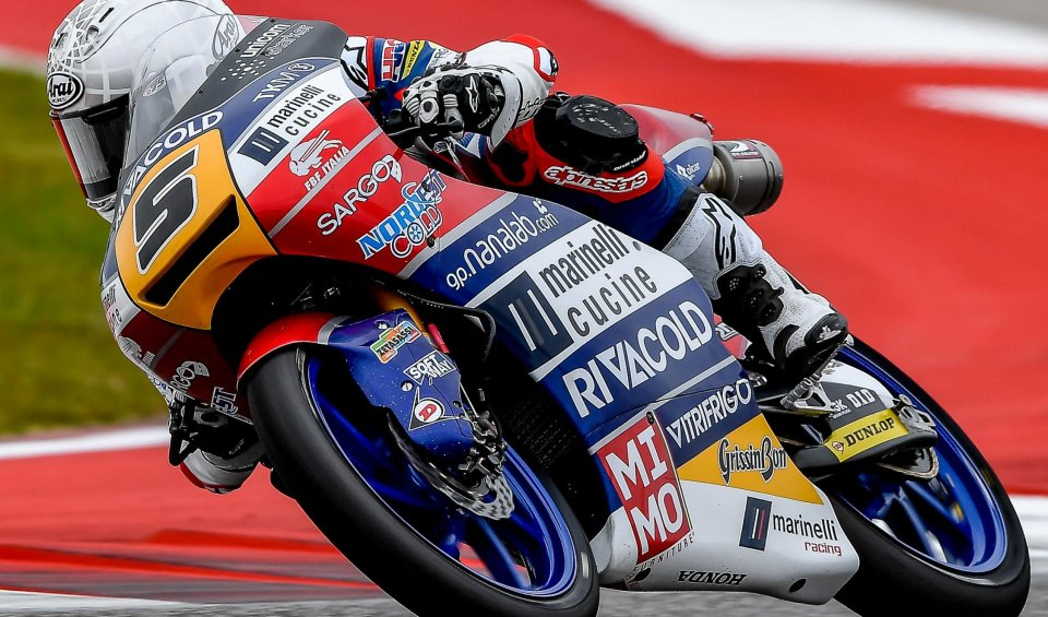 Moto3: Fenati hits the bulls eye in Austin ahead of Martin