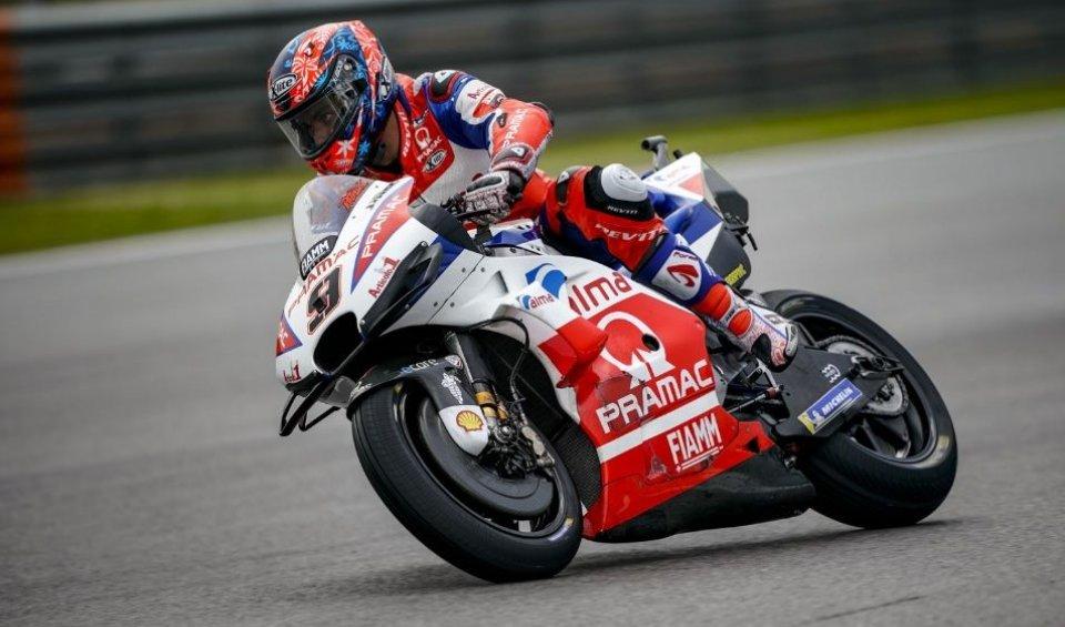 MotoGP: FP2: Rain Man Petrucci, 1st ahead of Márquez and Rossi
