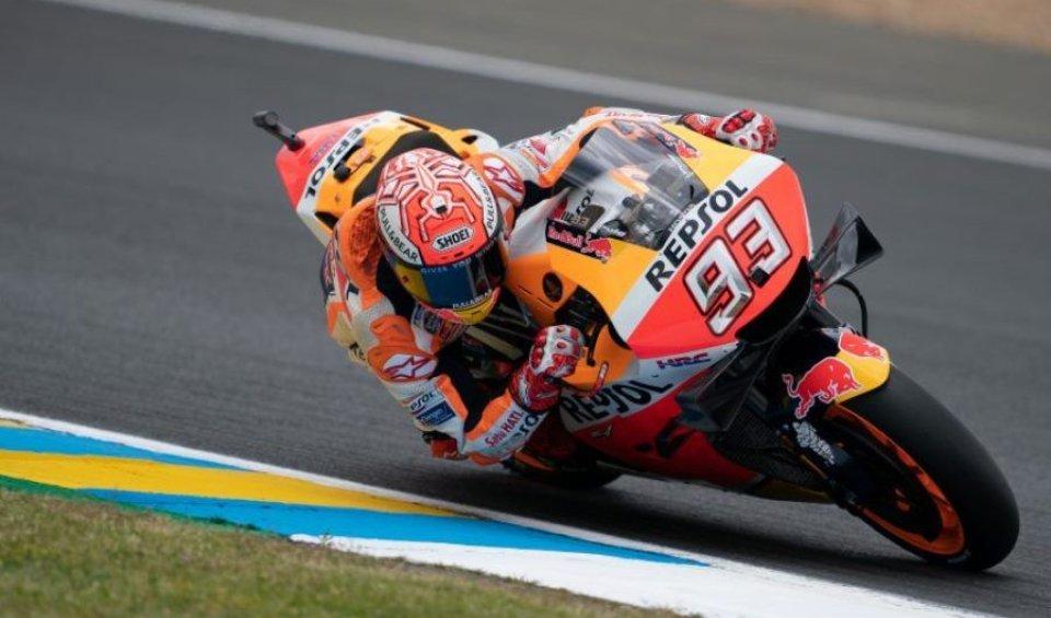 MotoGP: Marquez killer a Le Mans, Dovizioso e Petrucci a podio. Rossi 5°