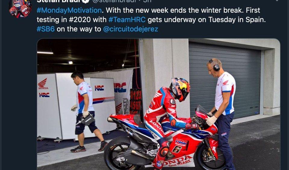 MotoGP: Honda already on track tomorrow with Bradl in Jerez