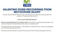 MotoGP: UFFICIALE: per Rossi nessuna frattura né trauma grave