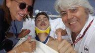 Moto2: Baldassarri flies through the air at 200 kph, loses consciousness and then jokes