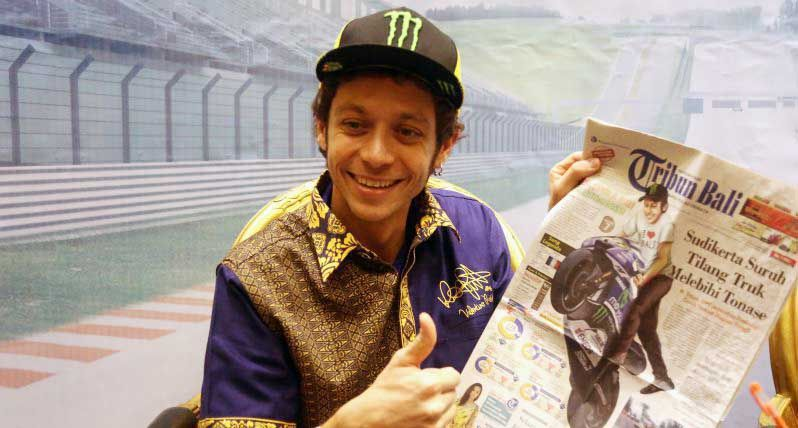 Rossi a Bali: la MotoGP dovrebbe correre qui