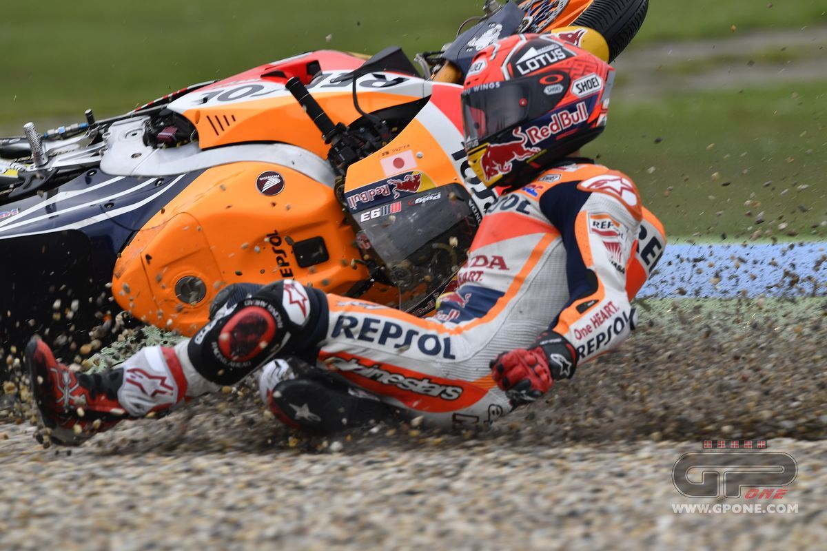 MotoGP, The crash of Marc Marquez in Assen | GPone.com