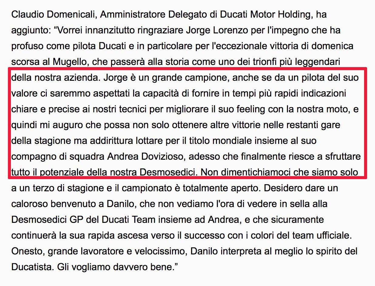 MotoGP 2018: MotoGP 2018, Lorenzo:
