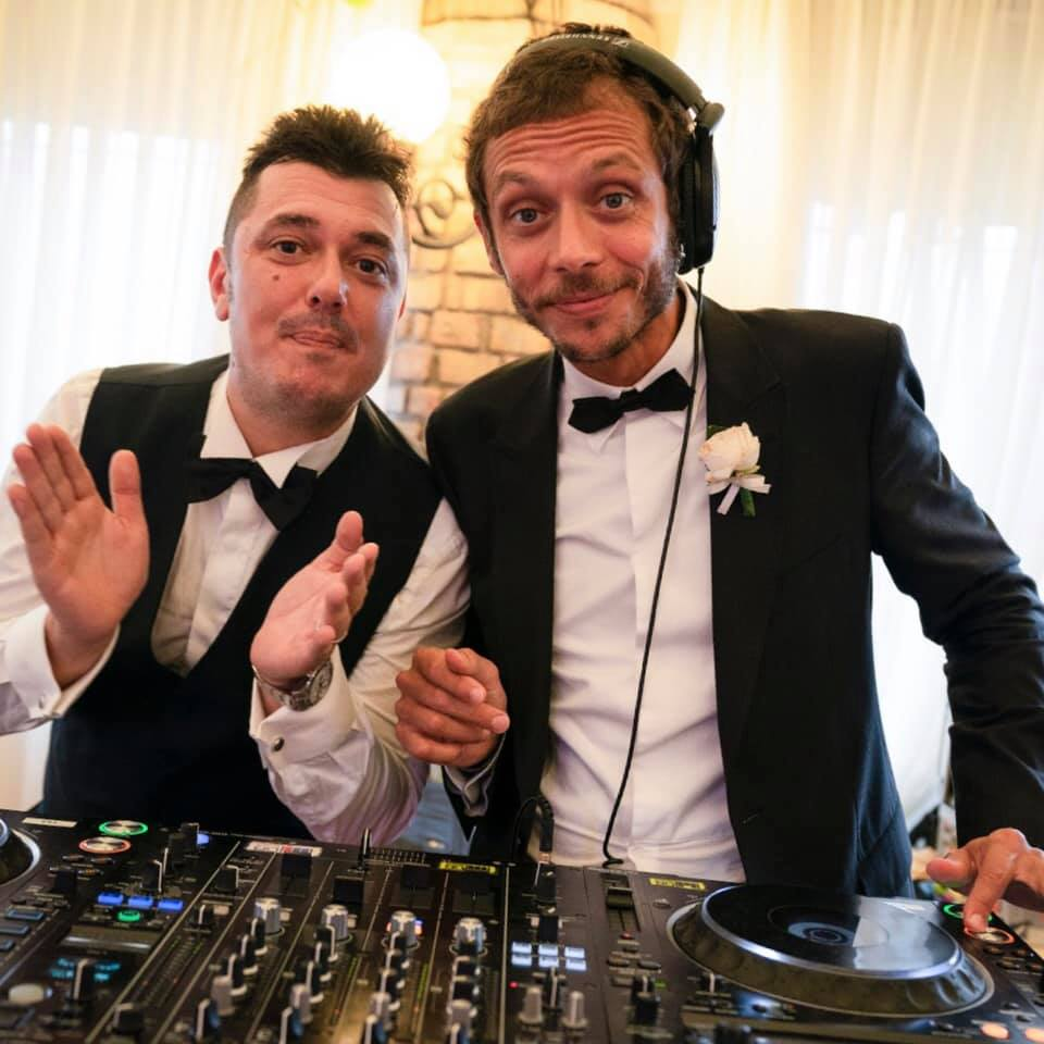 Valentino Rossi Deejay at Uccio's wedding