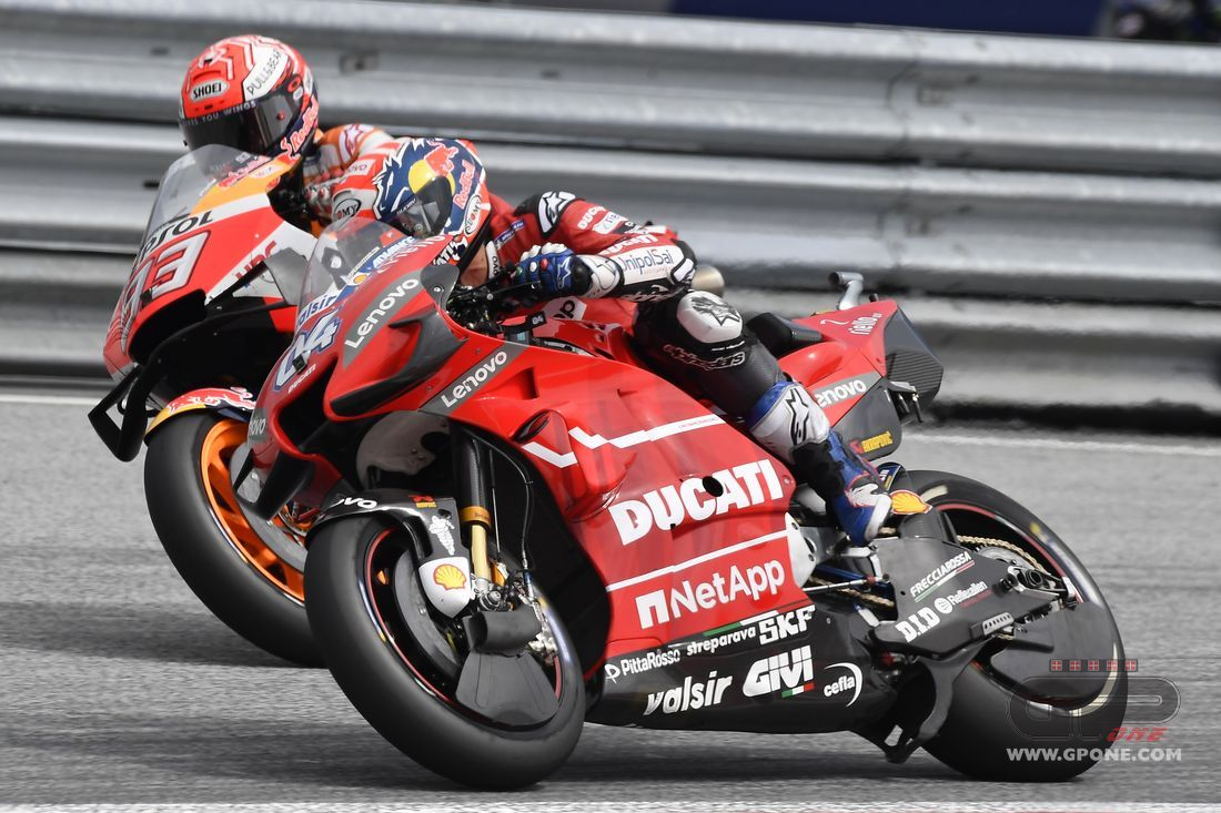 MotoGP, Dovizioso attacks Marquez's summit: A steep climb without