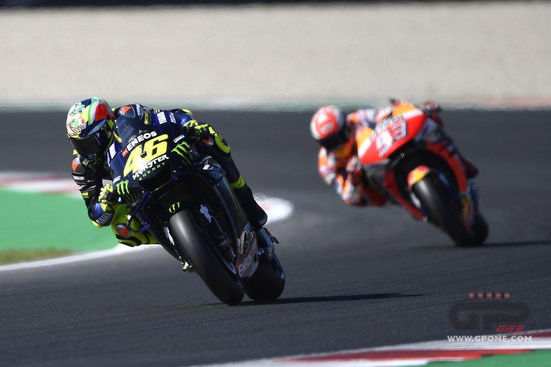 """MotoGP, Rossi: """"Marquez overtook me to ruin my lap"""""""