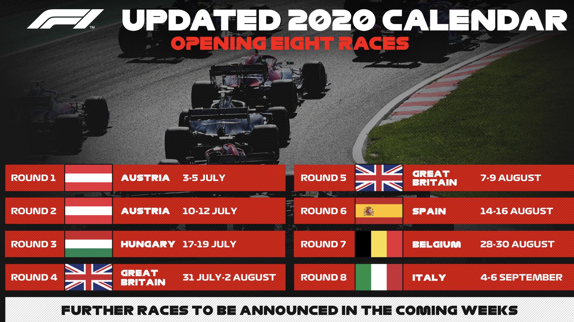 MotoGP, Provisional F1 calendar: many clashing dates with MotoGP