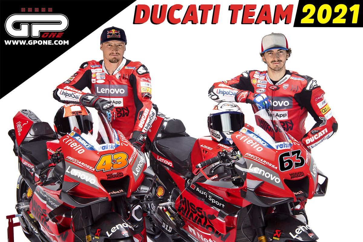 Motogp Official Pecco Bagnaia And Jack Miller Make Up The 2021 Factory Ducati Team Duo Gpone Com