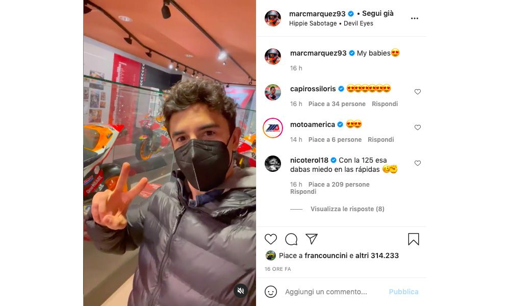 """MotoGP, Marc Marquez and his precious """"babies"""": all the bikes in his career"""