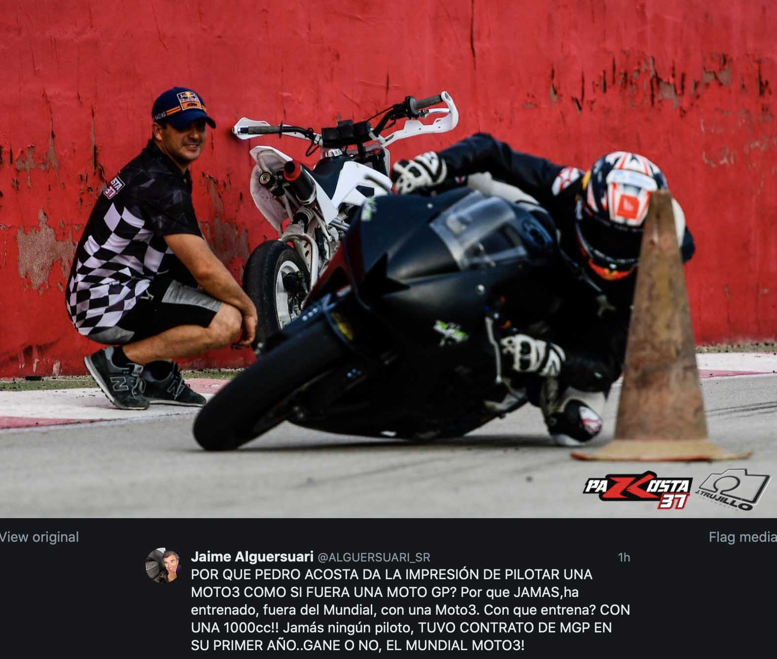 Moto3, Pedro Acosta 'predestined' in MotoGP trains with a Yamaha R1!