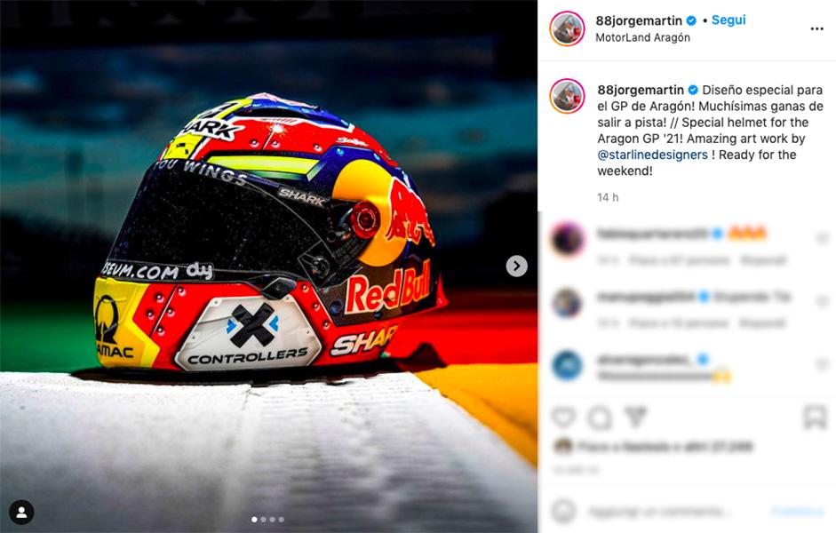 MotoGP, Special helmet for Jorge Martìn at Aragon: livery dedicated to Spain - GPOne.com