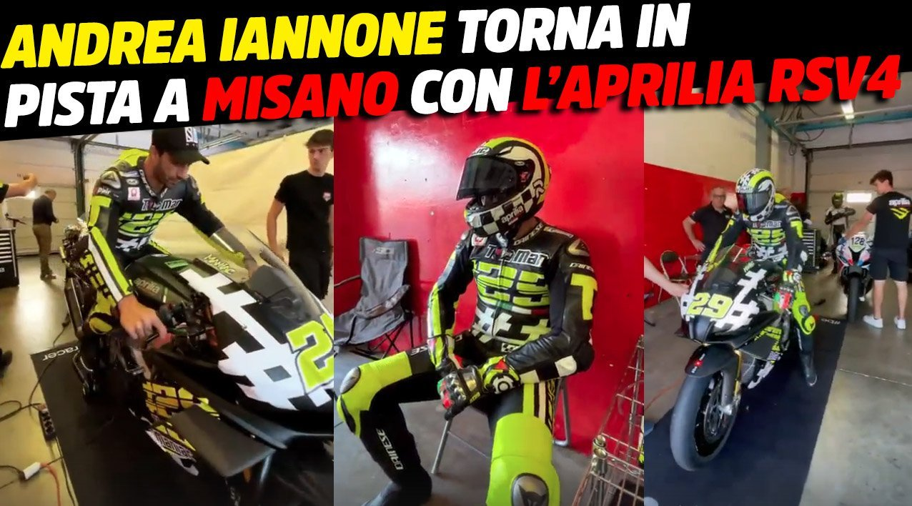 MotoGP, Andrea Iannone at Misano with the Aprilia RSV4: The Maniac doesn't give up - GPOne.com