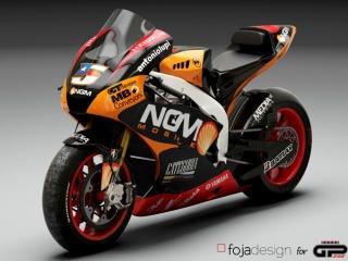 La Yamaha del team Forward nel rendering di GPOne.com