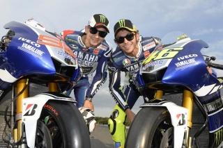 Valentino Rossi e Jorge Lorenzo nel 2009