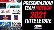 MotoGP: Presentazioni dei team MotoGP 2021: ecco tutte le date