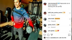 """MotoGP: Marc Marquez trains his arm in the gym: """"Starting with my left!"""""""