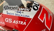 Moto2: Team Gresini immediately on track with a sticker dedicated to Fausto